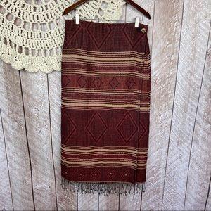 Tasha Polizzi Saddle Blanket Wrap Midi Skirt